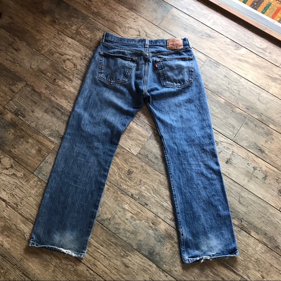 9bfe254a Levi's Jeans   Levis 501 Xx Button Fly Distressed 34 X 30   Poshmark